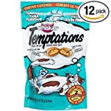 Whiskas Temptations Tempting Tuna Flavour Treats for Cats, 3-Ounce Pouches (Pack of 12)