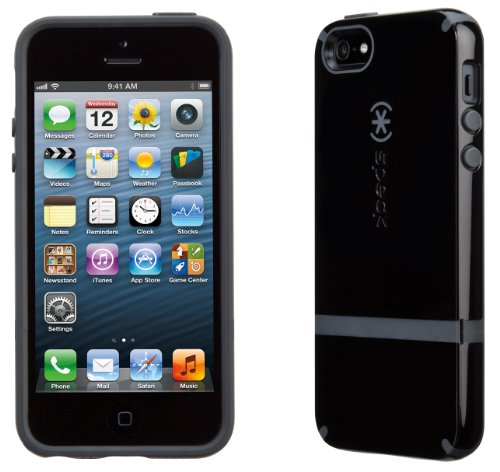 Great Price Speck Products CandyShell Flip Dockable Case for iPhone 5 & 5S - Retail Packaging - Black/Black/Slate Grey