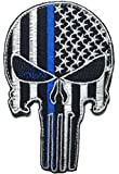 Patch Squad Men's Punisher Skull Thin Blue Line Embroidered Patch