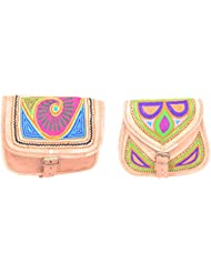 Aryan Exports Girls' Sling Bag (Multi-Colour, Set Of 2, Abc_305)