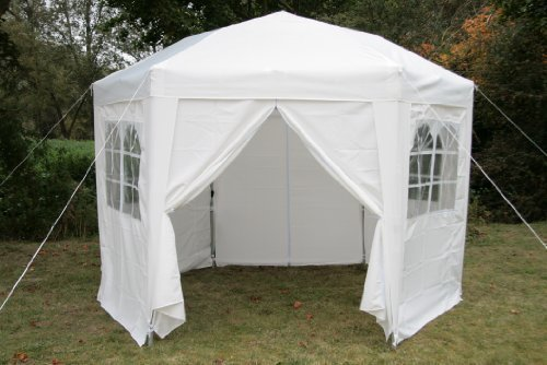 Airwave Pop-Up-Pavillon, 3,5 m, sechseckig, weiß
