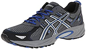 ASICS Men's Gel Venture 5 Running Shoe, Silver/Light Grey/Royal, 9.5 M US