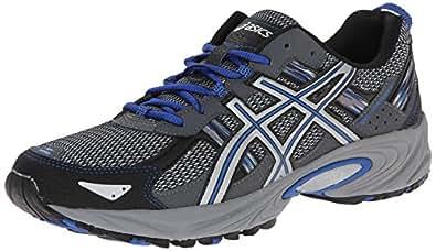 ASICS Men's Gel Venture 5 Running Shoe, Silver/Light Grey/Royal, 7 M US
