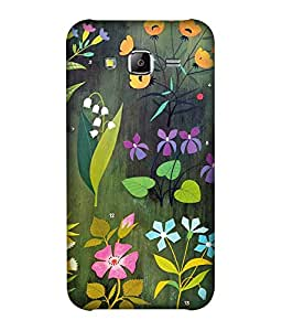 small candy 3D Printed Back Cover For Samsung Galaxy On7 -Multicolor flower