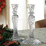 Waterford Crystal Seahorse Abstract Candlesticks New