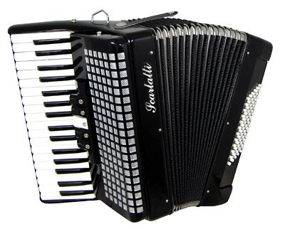 Scarlatti 3 Voice 48 Bass Accordion - Black