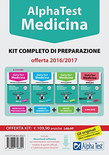 Alpha test. Medicina, odontoiatria, veterinaria. Kit completo