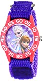 Disney Kids' Frozen Elsa and Anna Watch, W001789, Purple Nylon Band