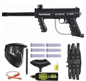 Tippmann 98 Custom Paintball Marker Gun 3Skull Super Mega Set