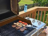 BBQ GRILL MAT and BAKE MAT (set of 2) - FREE Recipe eBook - BEST for healthy cooking and EASY CLEANUP - PORTABLE NONSTICK barbeque and BAKE sheet ideal for picnics, camping, RV grills, public grills and indoor oven use - THICK, REUSABLE and FDA compliant liner - Money-back GUARANTEE - LIMITED TIME SALE