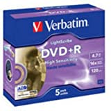 Verbatim LightScribe DVD+R 4.7G B Pack of 5