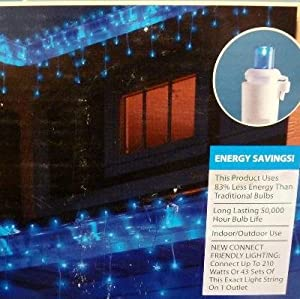70 count blue LED micro icicle light set String Lights