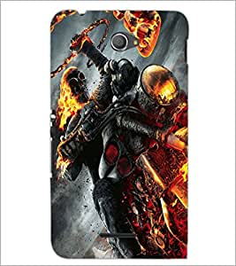 PrintDhaba Ghost Rider D-2172 Back Case Cover for SONY XPERIA E4 (Multi-Coloured)