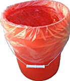 5 Gallon Bucket Liner for Marinading and Brining - Disposable Pail Liner 25 per roll - 22 Qt. Cambro Poly Pail