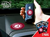 Get A Grip 13075 University of Alabama Crimson Tide Polymer Anti-Slip Phone Grip - 2 Pair at Amazon.com
