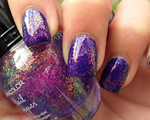 3D-Beauty-Holographic-Effect-Glitters-Nail-Polish-Chunky-Holo-Purple