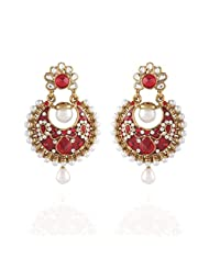 I Jewels Tradtional Gold Plated Elegantly Handcrafted Pair Of Fashion Earrings For Women. - B00N7INQ5S