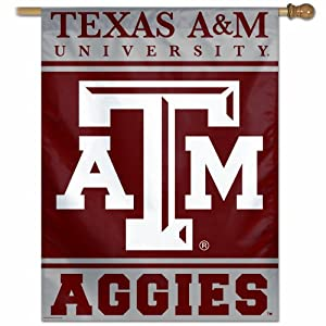 NCAA Texas A&M Aggies 27-by-37 inch Vertical Flag