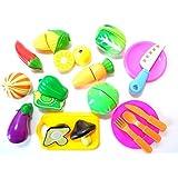 【SDK】 知育玩具 ママのお手伝い サクサク切れる おままごと 17点セット 【収納袋付き】 (やさい)