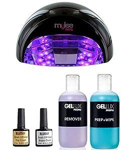 Mylee Led Nail Lamp Top Base Coat Prep Wipe Remover Kit Shellac Gel Polish Amazon Co Uk Health