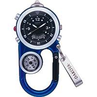 DAKOTA (ダコタ) カラビナウォッチ AnglerII DWC-4001BU 方位計 温度計 LEDライトつき