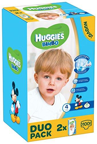 Huggies Bimbo, 100 Pannolini, Taglia 4 (7-18 kg), 2 confezioni da 50