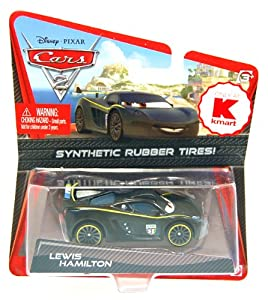 Disney/Pixar Cars 2 Movie Exclusive Lewis Hamilton With Synthetic Rubber Tires 1:55 Scale