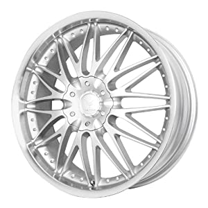 "Verde Custom Wheels Regency Silver Wheel with Machined Lip (17x7.5""/5x115 mm)"