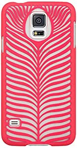 Dream Wireless Crystal Rubber Protective Case for Samsung Galaxy S5 - Retail Packaging - Feather Hot Pink