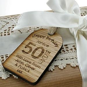 50th wooden gift keepsake solid oak free engraving