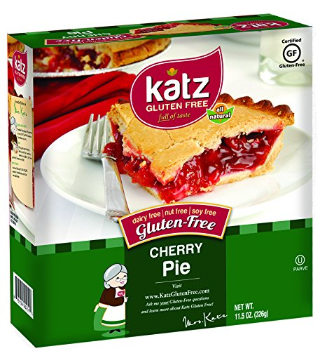 Katz Gluten Free Cherry Pie, 11.5 Ounce, Certified Gluten Free - Kosher - Dairy, Nut & Soy free - (Pack of 6)