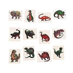 "72 Dinosaur Temporary Tattoo Tattoos Stickers 2"""