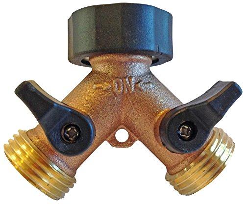 The world s best way garden hose y connector with shut