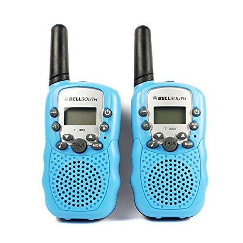 Hotkey® 2pcs Portable Wireless Walkie-talkie Set Eight Channel 2 Way Radio Intercom 5KM Travel Blue