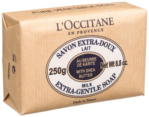 L'Occitane Savon Extra-Doux Lait (Milk Soap with Shea Butter, Extra Gentle), 8.8-Ounce Bar