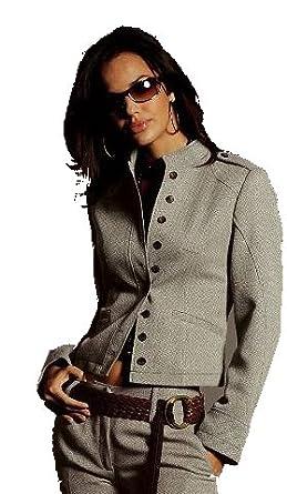 tweed blazer mit stehkragen grau meliert 46 bekleidung. Black Bedroom Furniture Sets. Home Design Ideas