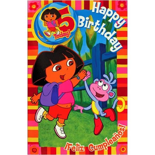 Dora The Explorer Birthday Card images