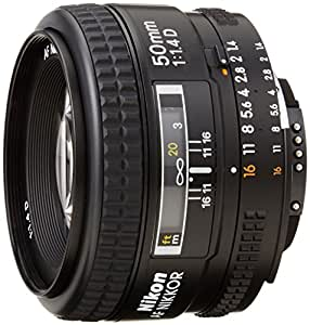 Nikon AF FX NIKKOR 50mm f/1.4D Fixed Zoom Lens with Auto Focus for Nikon DSLR Cameras