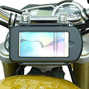 14.7mm Motorcycle Yoke Stem Mount with Waterproof Case for Samsung