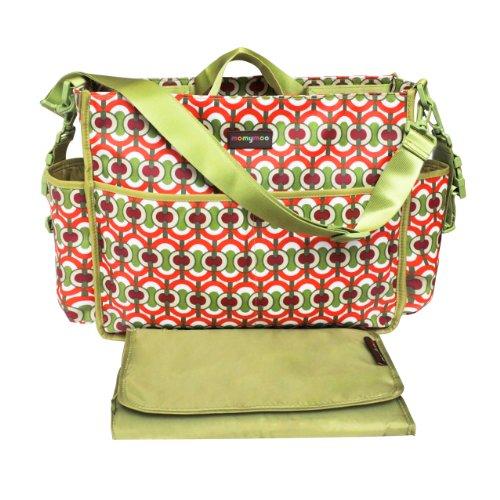 Momymoo Premium Lulu Baby Changing Bag (Swirl Green)