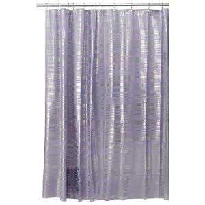 InterDesign Design Blaze Eva Shower Curtain Purple Silver 72 I