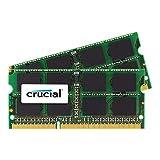Crucial 16GB Kit (8GBx2) DDR3L 1866 MT/s  (PC3-14900) SODIMM 204-Pin Memory For Mac - CT2K8G3S186DM