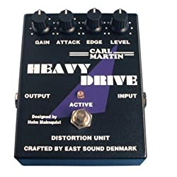 Carl Martin Heavy Drive Distortion Guitar Effects Pedal Attack Mid Control Edge Treble Control by Carl Martin
