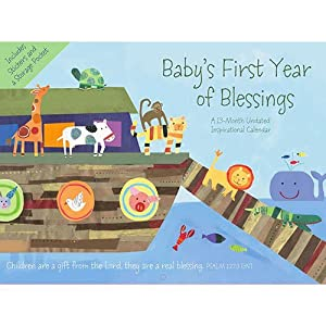 Baby's First Year of Blessings Undated Wall Calendar with Stickers