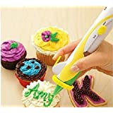 Lycheers Battery Operated Frosting Deco Pen Magic Cupcake Cookie Cake Decoration Pastry Decorating Writing Set Kit Tool