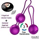 Orlena 2 in 1 Kegel Exercise Weights Kit Ben Wa Balls Kegel Balls for Women Beginners, Silicone Wireless Remote Control Massager Rechargeable & Waterproof, Bladder Control & Pelvic Floor Exercises