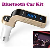 Gadget Hero's™ Bluetooth Hands Free Car Kit, USB Port, Micro SD Card Reader, FM Transmitter, Aux MP3 Player.