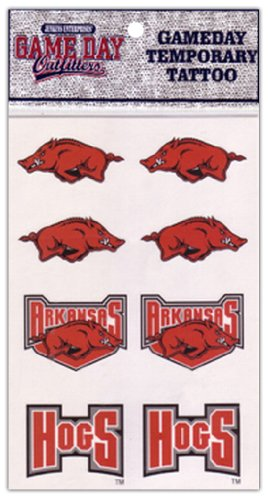 NCAA Arkansas Razorbacks Tattoo at Amazon.com