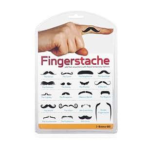 Fingerstashe Stylish Temporary Finger Tattoos Novelty Gag Gift