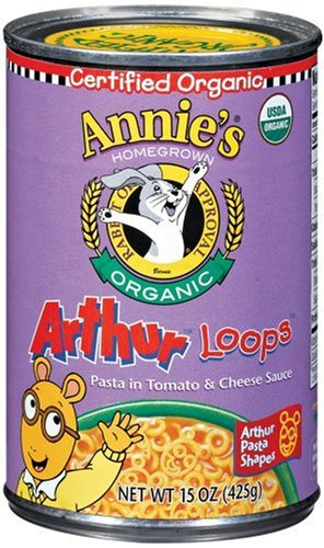 Annie's Homegrown Organic Arthur Loops, 15.0 Ounce Tins (Pack of 12)